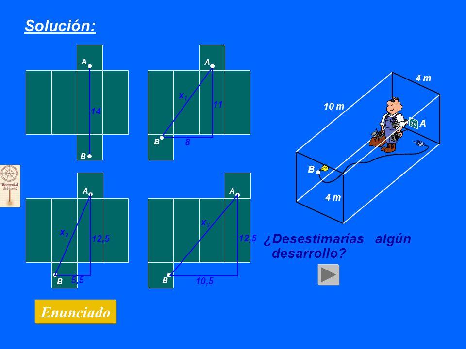 ¿Hay más A B A B Solución: Enunciado 10 m 4 m B A 14 11 8 x1x1