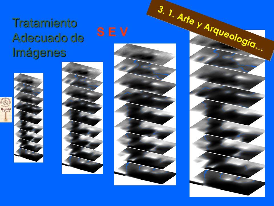 . Capa 1 a –2 m.. Capa 2 a – 4m. Capa 9 a – 18m PROSPECCIÓN EN ALAJAR Sondeo Eléctrico Vertical 3. 1. Arte y Arqueología…