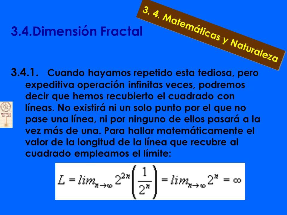 3.4.Dimensión Fractal 3.4.1. Pero... ¿qué ocurre si intentamos medir la
