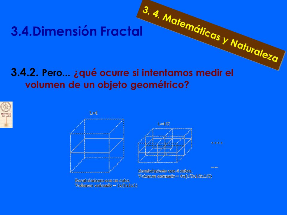 3.4.Dimensión Fractal 3.4.1. Cuando hayamos repetido esta tediosa, pero expeditiva operación infinitas veces, podremos decir que hemos recubierto el c