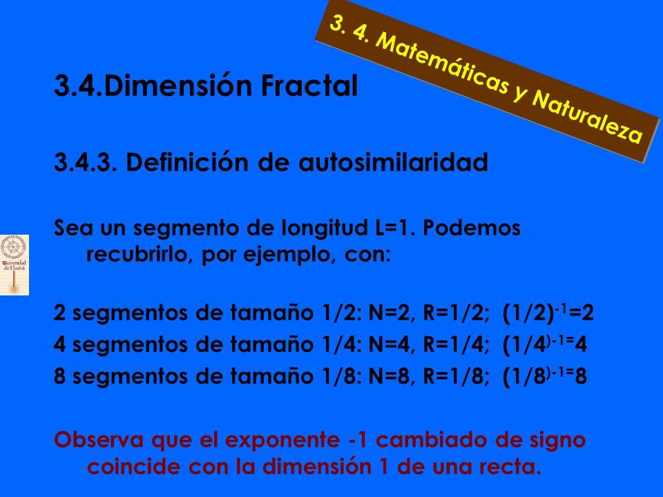 3.4.Dimensión Fractal 3.4.3. ¿Sorpresa ? El triángulo de Sierpinski es un objeto geométrico de infinita longitud, aunque se encuentra en una región fi
