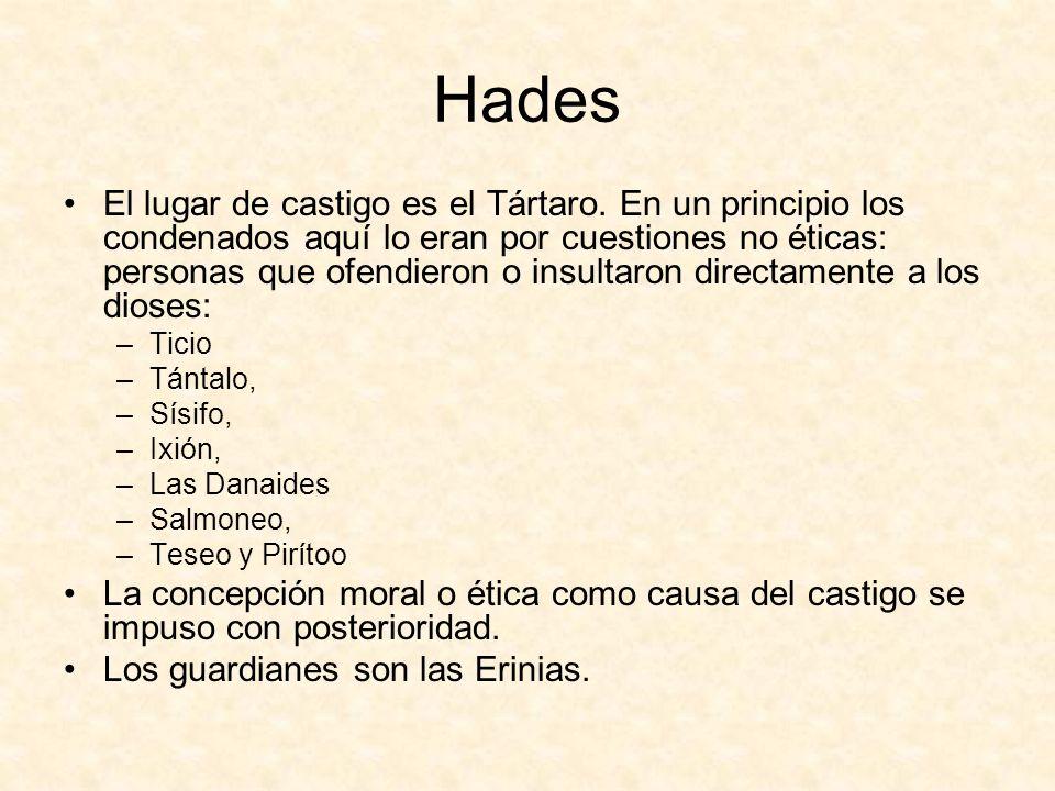 Hades El lugar de castigo es el Tártaro.