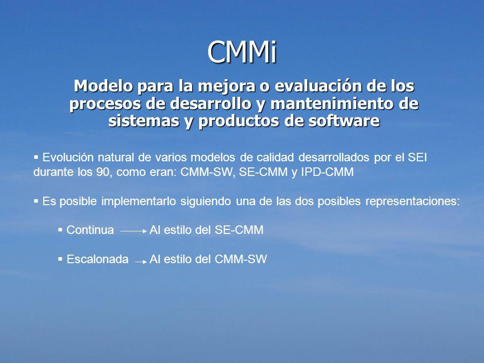 Modelo para la mejora o evaluación de los procesos de desarrollo y mantenimiento de sistemas y productos de software Evolución natural de varios model