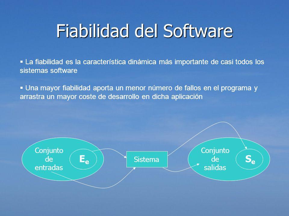 La fiabilidad es la característica dinámica más importante de casi todos los sistemas software Una mayor fiabilidad aporta un menor número de fallos e