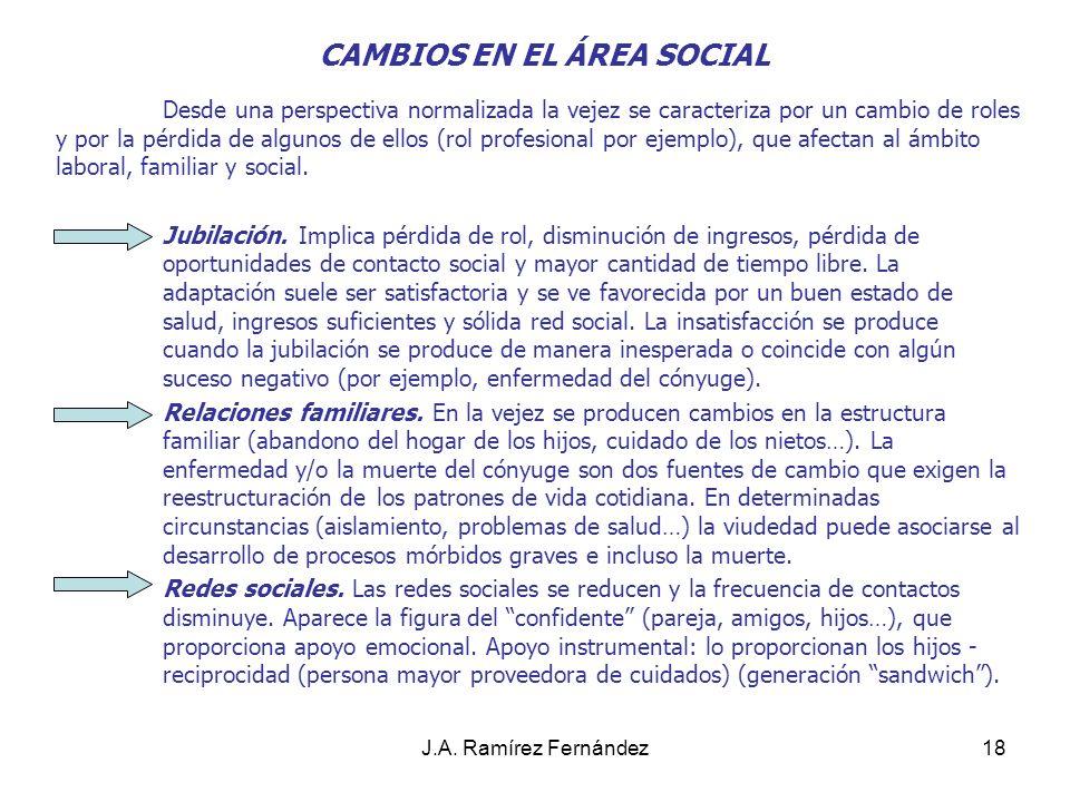J.A.Ramírez Fernández19 3. PERSPECTIVA PSICOSOCIAL.