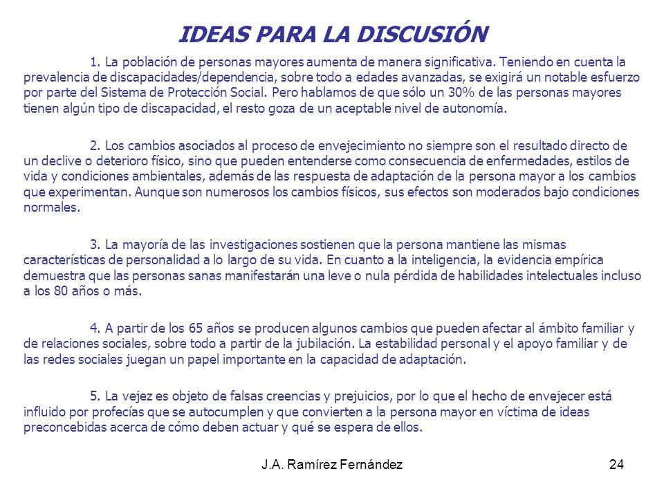 J.A. Ramírez Fernández25 4. RECURSOS SOCIALES DIRIGIDOS A LA ATENCIÓN DE LAS PERSONAS MAYORES.