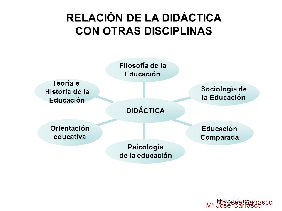DIDÁCTICA Filosofía de la Educación Sociología de la Educación Educación Comparada Psicología de la educación Orientación educativa Teoría e Historia