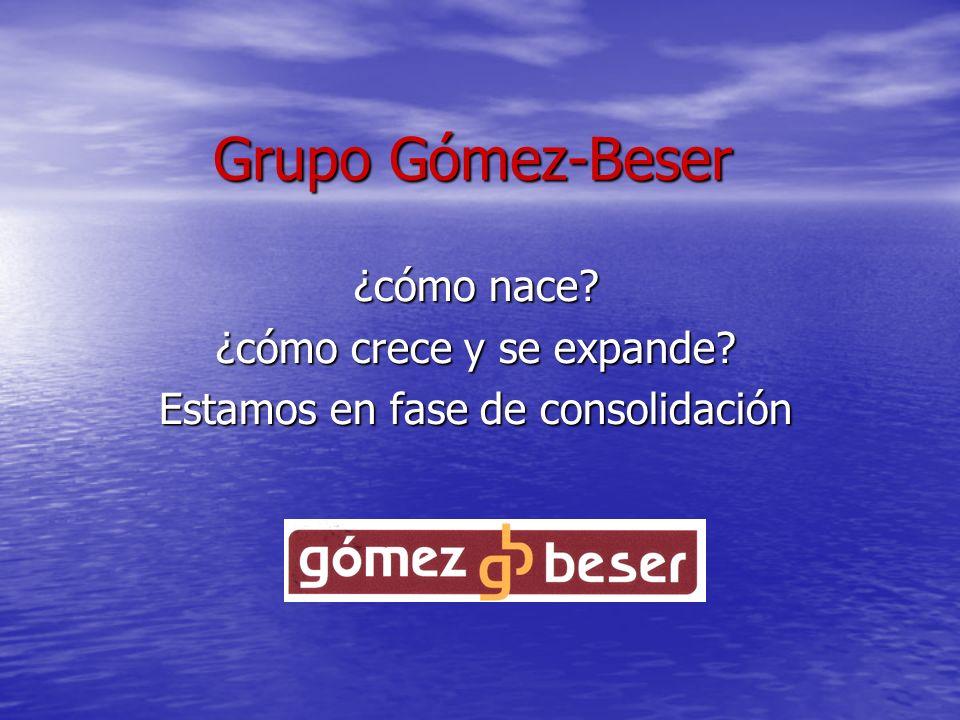 Grupo Gómez-Beser ¿cómo nace? ¿cómo crece y se expande? Estamos en fase de consolidación