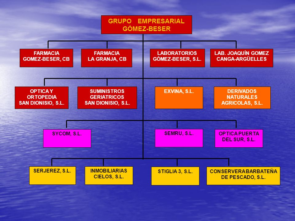 GRUPO EMPRESARIAL GÓMEZ-BESER FARMACIA GOMEZ-BESER, CB FARMACIA LA GRANJA, CB LABORATORIOS GÓMEZ-BESER, S.L. DERIVADOS NATURALES AGRICOLAS, S.L. OPTIC