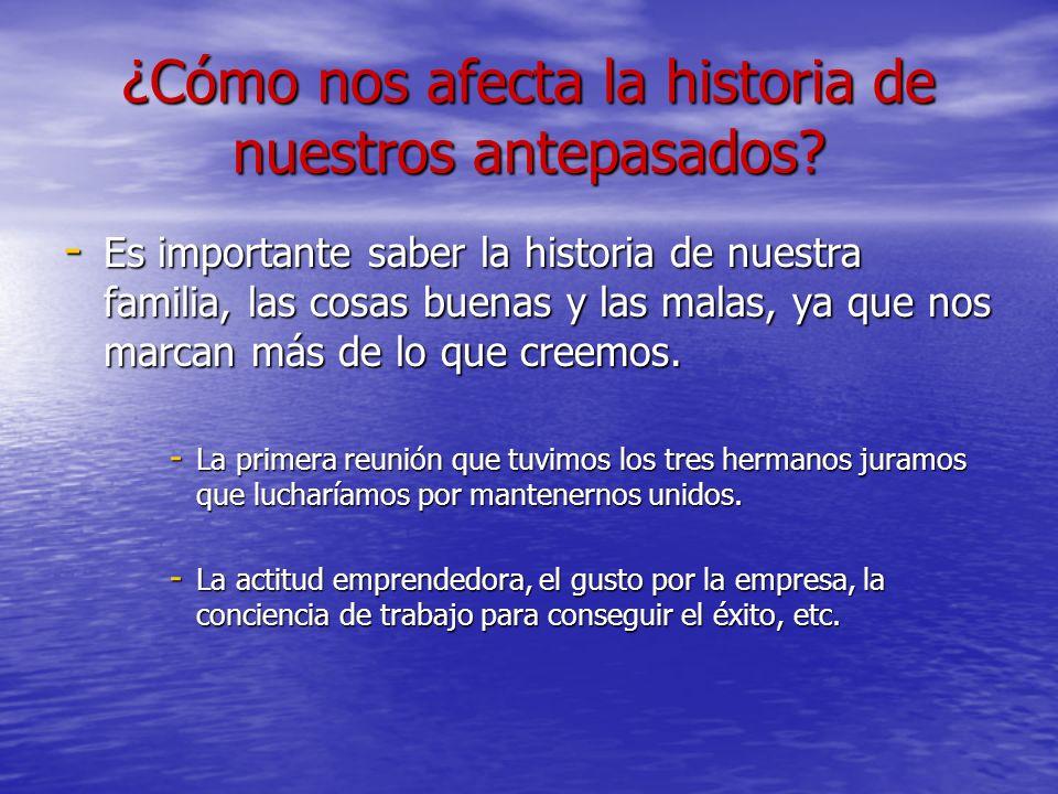 ¿Cómo nos afecta la historia de nuestros antepasados? - Es importante saber la historia de nuestra familia, las cosas buenas y las malas, ya que nos m