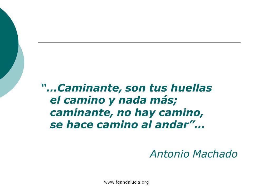www.fqandalucia.org …Caminante, son tus huellas el camino y nada más; caminante, no hay camino, se hace camino al andar… Antonio Machado