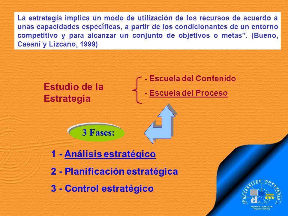 La estrategia implica un modo de utilización de los recursos de acuerdo a unas capacidades específicas, a partir de los condicionantes de un entorno c