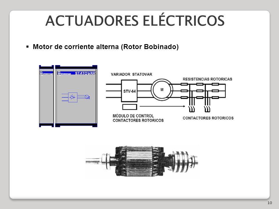 10 ACTUADORES ELÉCTRICOS Motor de corriente alterna (Rotor Bobinado)