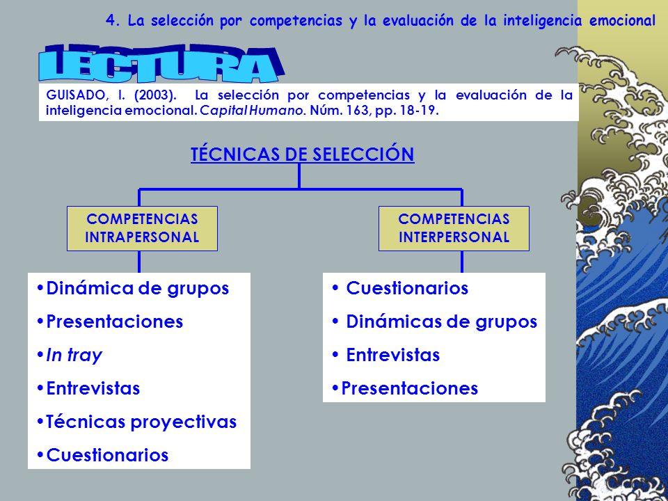 4.La selección por competencias y la evaluación de la inteligencia emocional GUISADO, I.
