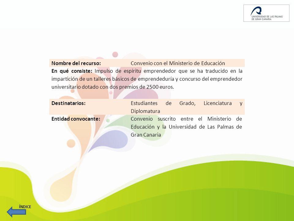 Nombre del recurso: Estudio de la emprendeduría en la Universidad de Las Palmas de Gran Canaria (ULPGC).