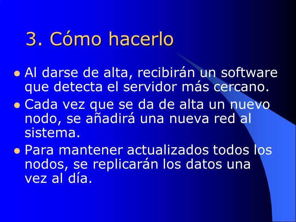 3. Cómo hacerlo Al darse de alta, recibirán un software que detecta el servidor más cercano.