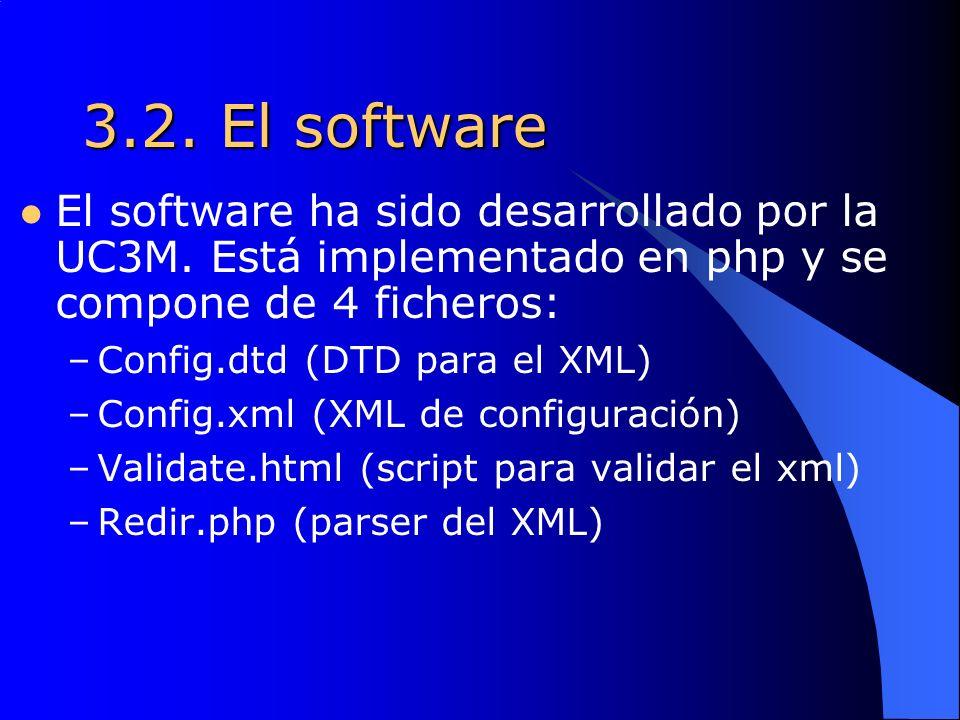 3.2. El software El software ha sido desarrollado por la UC3M.