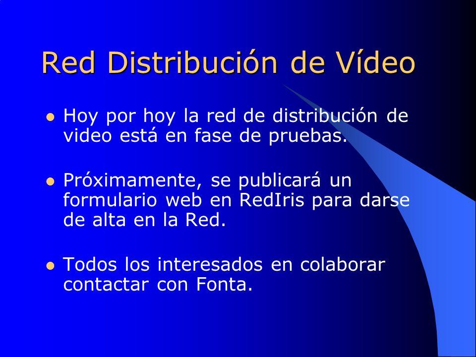 Red Distribución de Vídeo Hoy por hoy la red de distribución de video está en fase de pruebas.