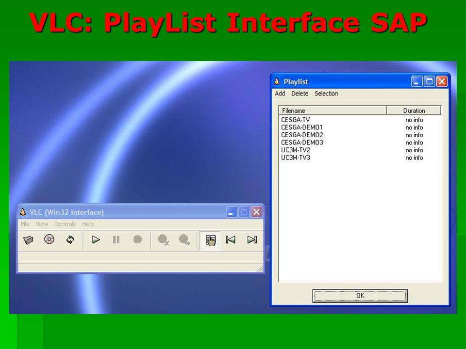 VLC: PlayList Interface SAP