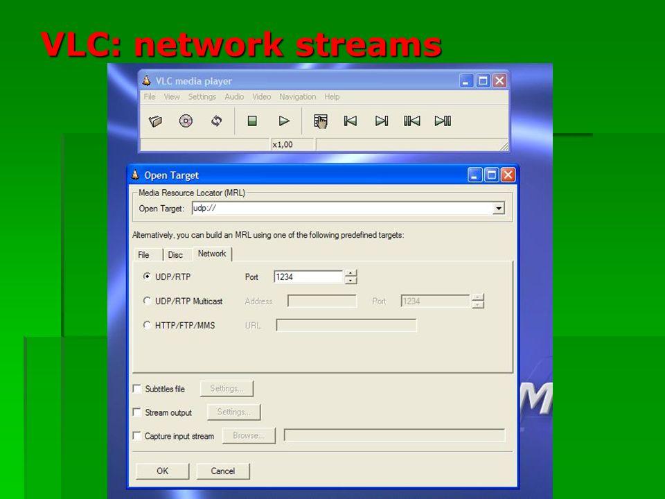 VLC: network streams