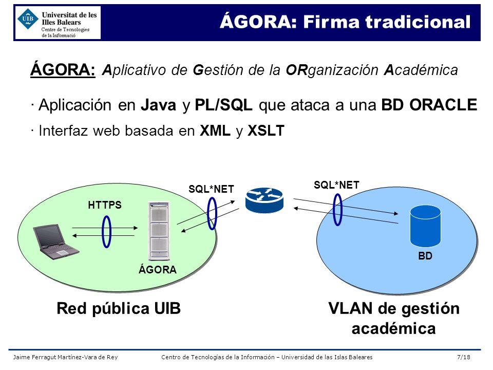 Jaime Ferragut Martínez-Vara de ReyCentro de Tecnologías de la Información – Universidad de las Islas Baleares18/18 ¿Preguntas.