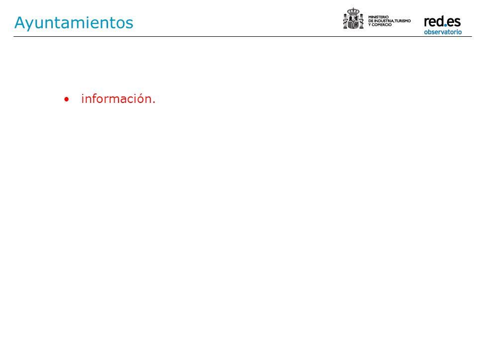 Ayuntamientos información.
