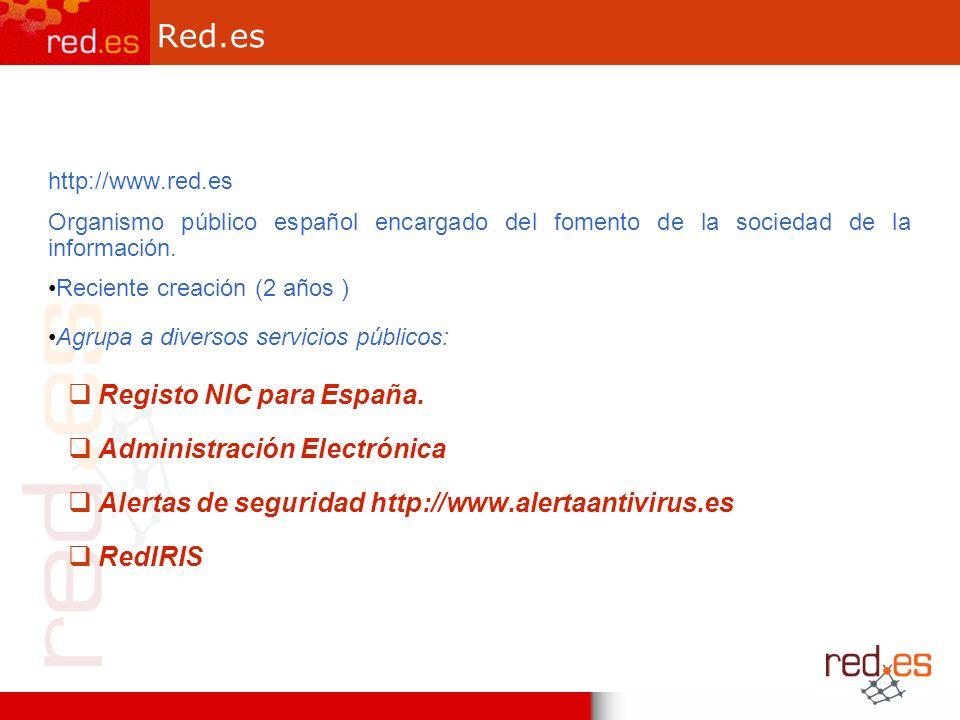Red.es http://www.red.es Organismo público español encargado del fomento de la sociedad de la información.