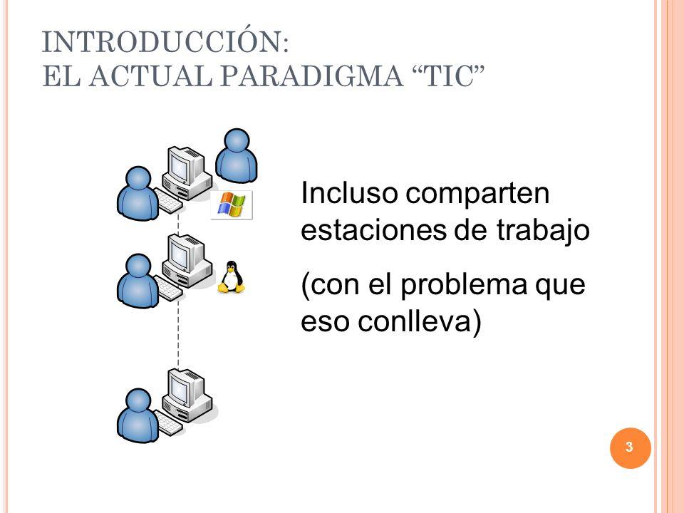 Los usuarios se encuentran distribuidos físicamente en diferentes sedes 4 INTRODUCCIÓN: EL ACTUAL PARADIGMA TIC