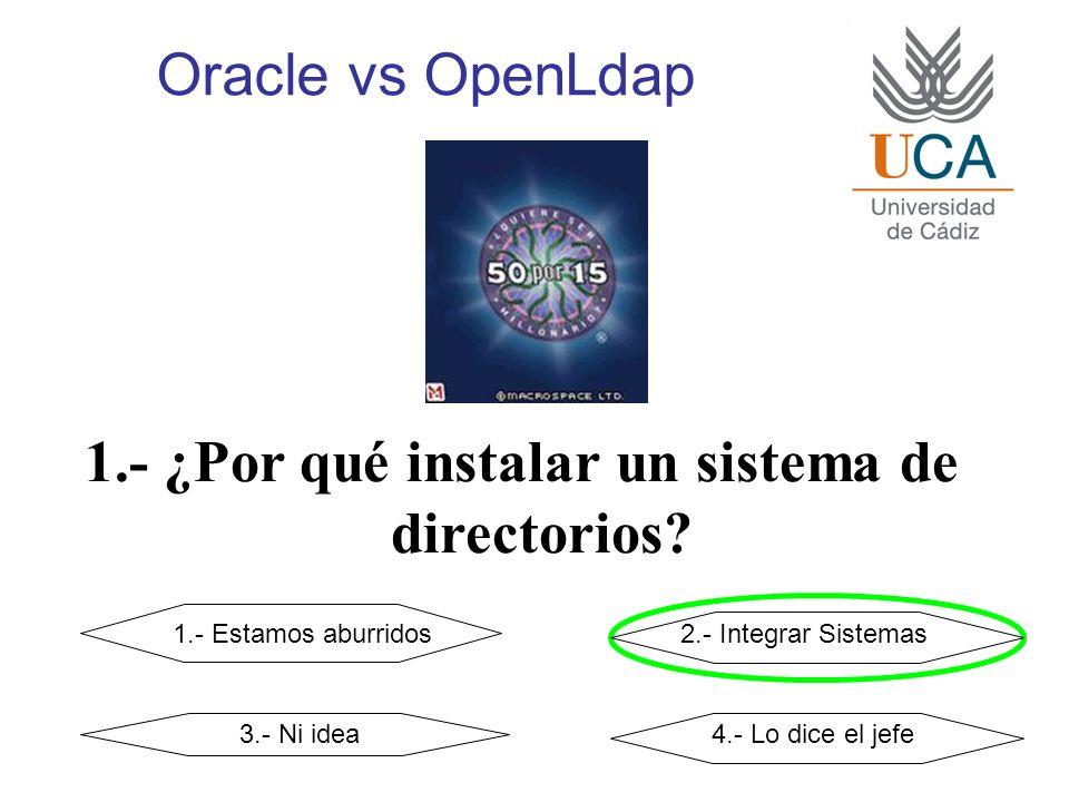 Oracle vs OpenLdap 1.- ¿Por qué instalar un sistema de directorios.