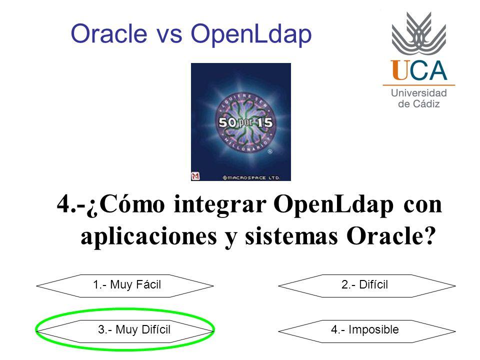 Oracle vs OpenLdap 4.-¿Cómo integrar OpenLdap con aplicaciones y sistemas Oracle.