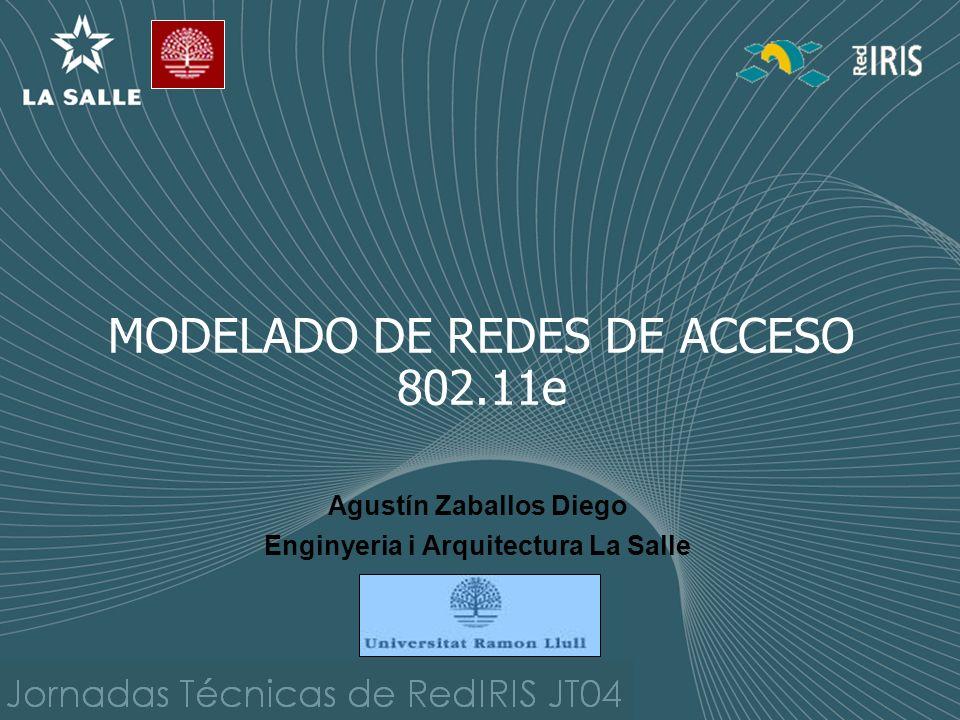 MODELADO DE REDES DE ACCESO 802.11e Agustín Zaballos Diego Enginyeria i Arquitectura La Salle