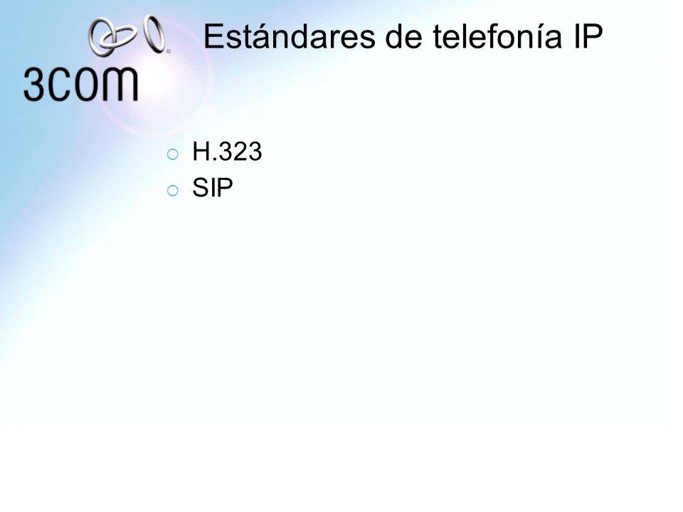 Estándares de telefonía IP H.323 SIP