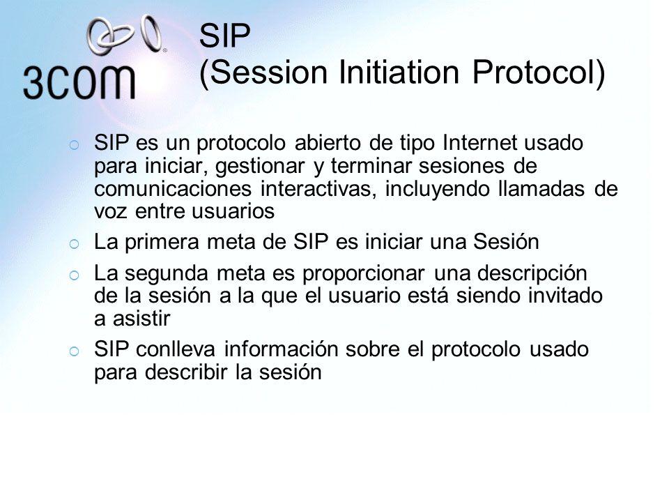 SIP (Session Initiation Protocol) SIP es un protocolo abierto de tipo Internet usado para iniciar, gestionar y terminar sesiones de comunicaciones int