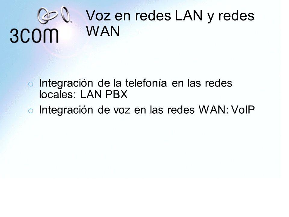 Voz en redes LAN y redes WAN Integración de la telefonía en las redes locales: LAN PBX Integración de voz en las redes WAN: VoIP