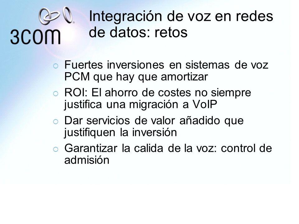 Integración de voz en redes de datos: retos Fuertes inversiones en sistemas de voz PCM que hay que amortizar ROI: El ahorro de costes no siempre justi
