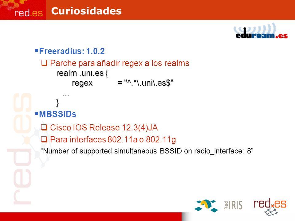 Curiosidades Freeradius: 1.0.2 Parche para añadir regex a los realms realm.uni.es { regex =