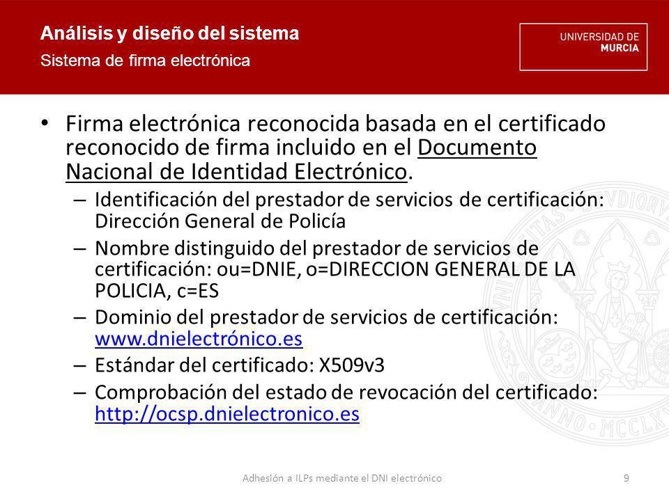 Análisis y diseño del sistema Comprobación en línea del estado de revocación de un certificado.