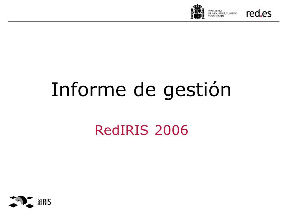 Informe de gestión RedIRIS 2006