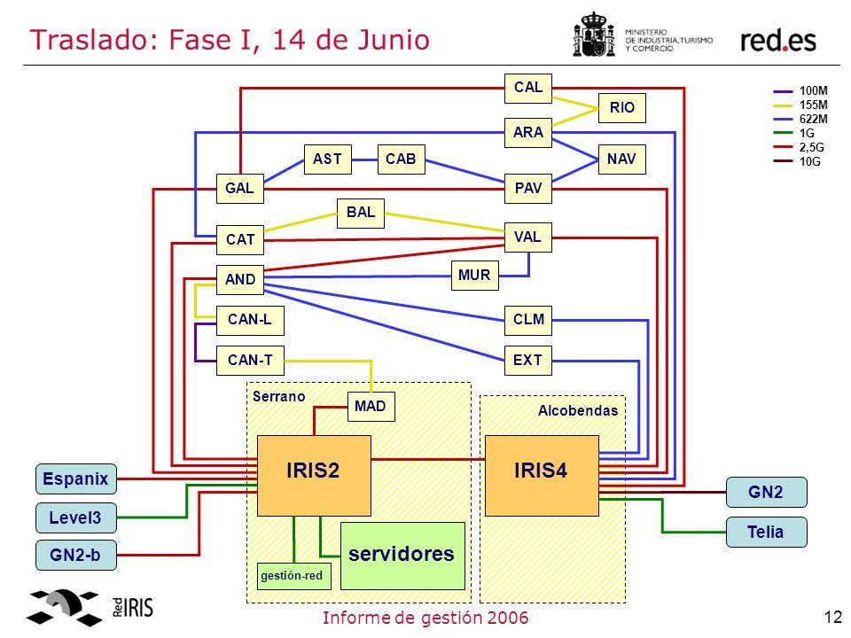 12Informe de gestión 2006 Traslado: Fase I, 14 de Junio