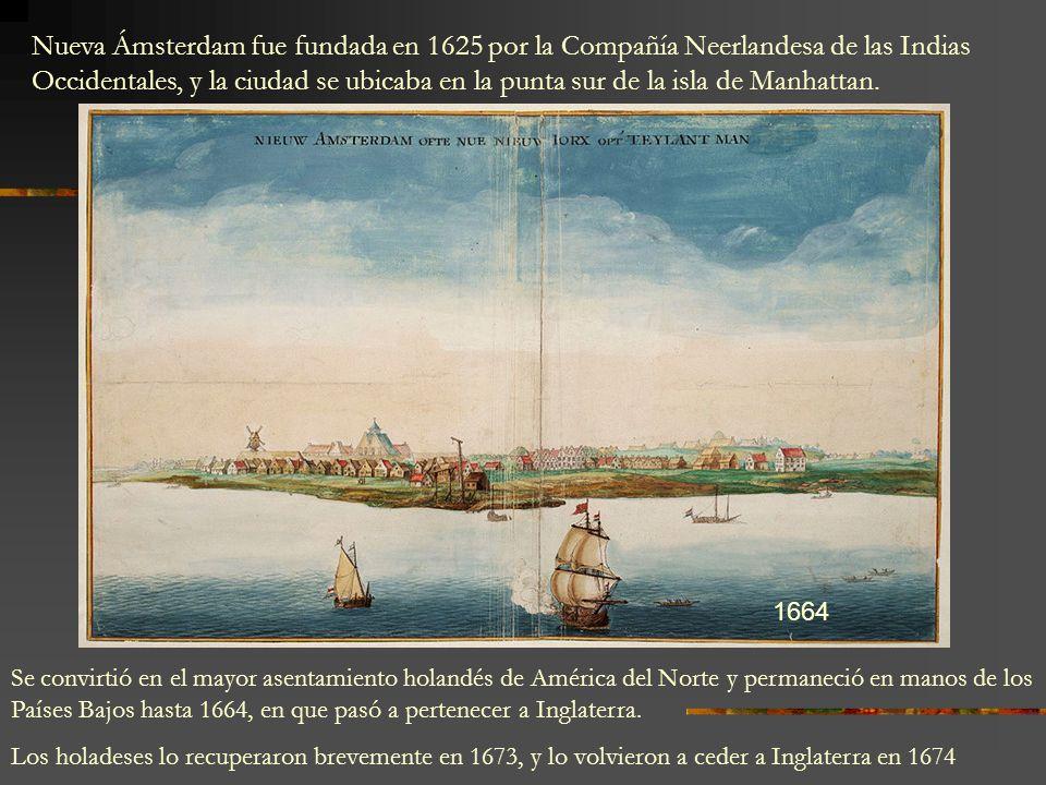 Nueva Ámsterdam fue fundada en 1625 por la Compañía Neerlandesa de las Indias Occidentales, y la ciudad se ubicaba en la punta sur de la isla de Manha