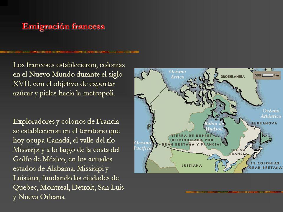 Los franceses establecieron, colonias en el Nuevo Mundo durante el siglo XVII, con el objetivo de exportar azúcar y pieles hacia la metropoli. Explora