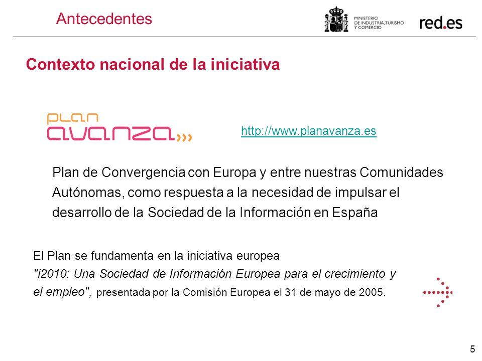 5 Antecedentes Contexto nacional de la iniciativa Plan de Convergencia con Europa y entre nuestras Comunidades Autónomas, como respuesta a la necesida