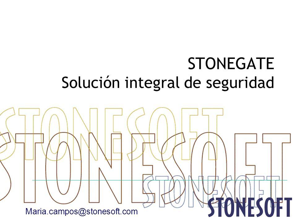 STONEGATE Solución integral de seguridad Maria.campos@stonesoft.com
