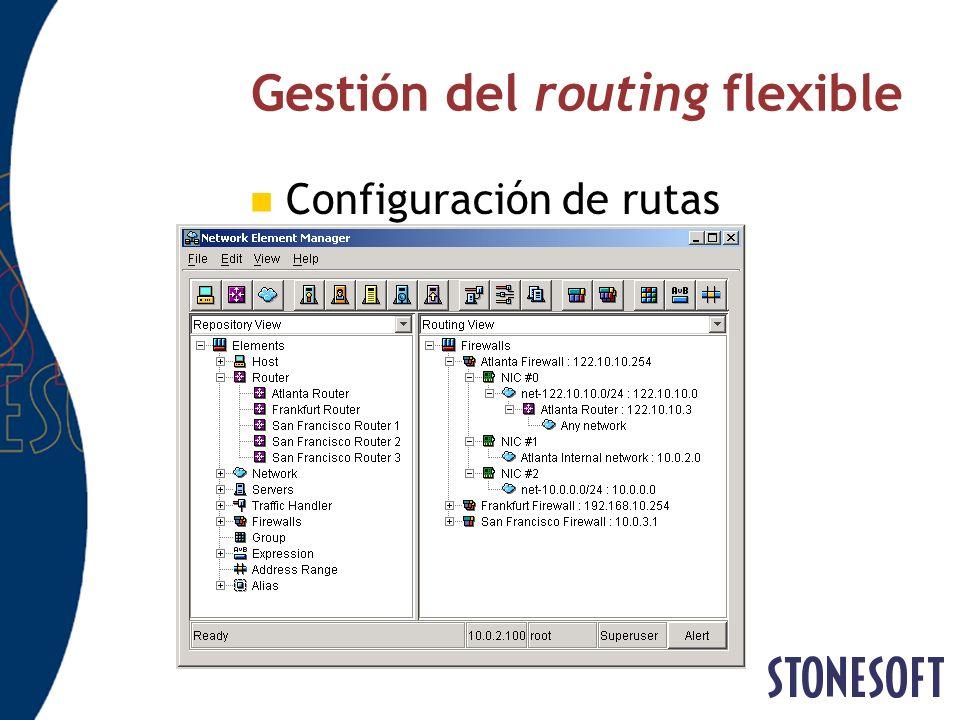 Gestión del routing flexible Configuración de rutas