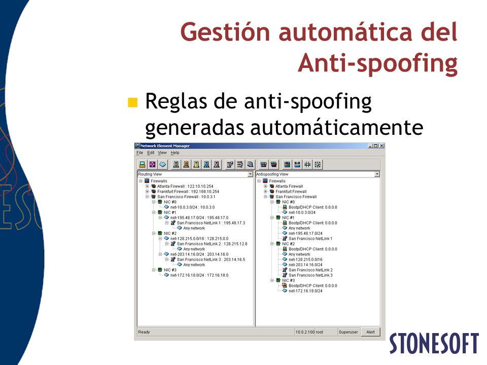 Gestión automática del Anti-spoofing Reglas de anti-spoofing generadas automáticamente