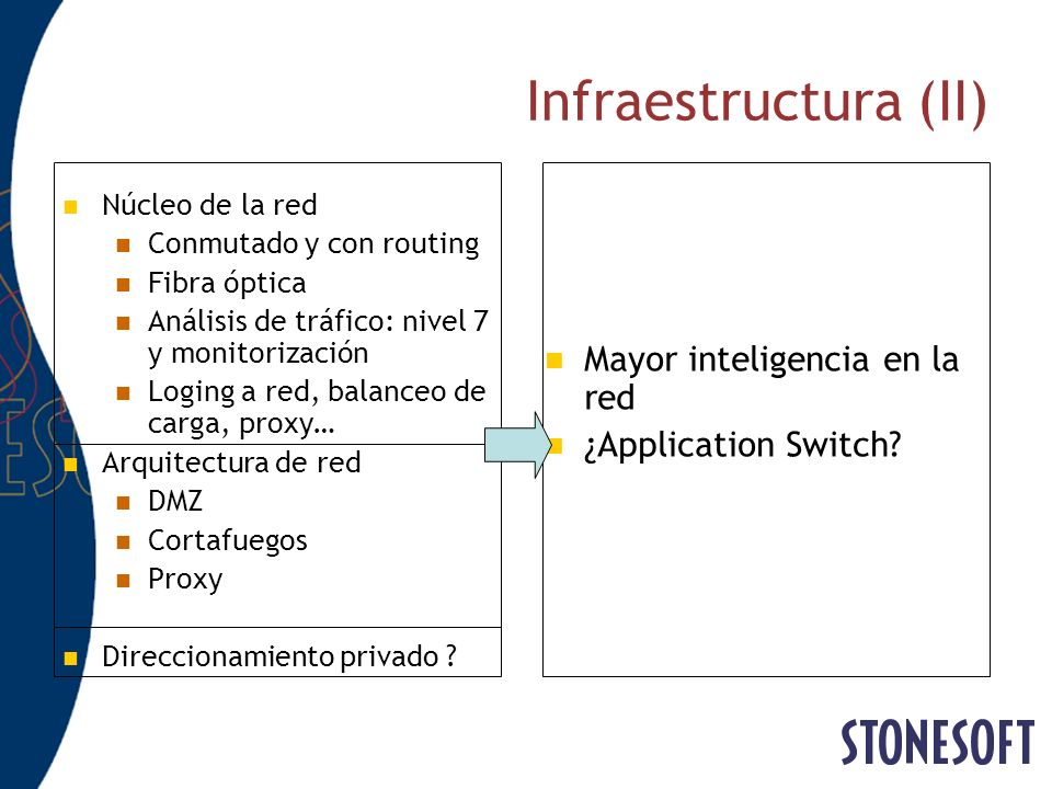 Multi-Link: Balanceo saliente de ISPs Local network Internet NetLink 1 NetLink 3 NetLink 2 Firewall cluster Source host Destination host Step 2: FW sends SYN packets through all available ISP and measures RTT Step 3: FW selects fastest route and connection is opened between hosts Step 1: Connection request to destination host on the Internet