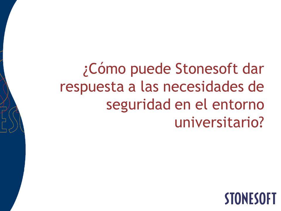 ¿Cómo puede Stonesoft dar respuesta a las necesidades de seguridad en el entorno universitario?