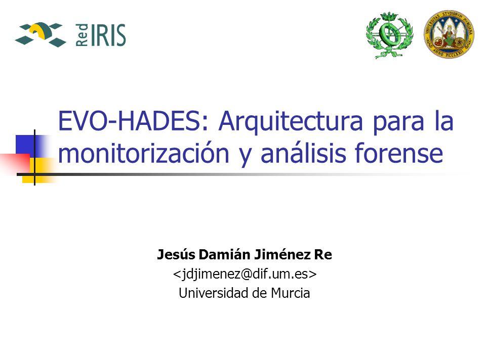 EVO-HADES: Arquitectura para la monitorización y análisis forense Jesús Damián Jiménez Re Universidad de Murcia