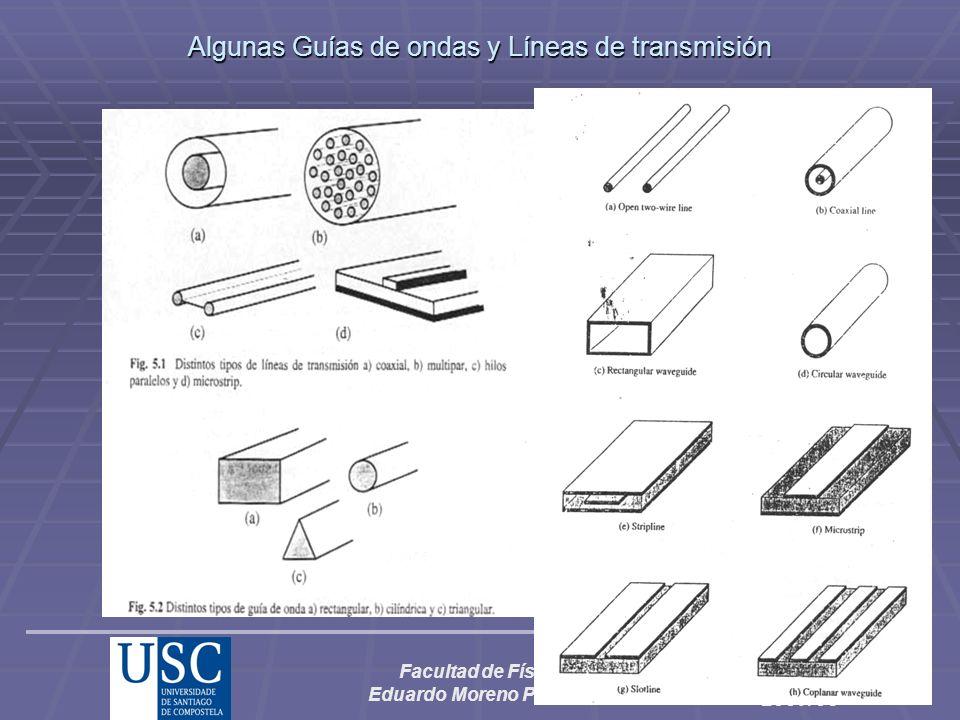 Facultad de Física Eduardo Moreno Piquero CEM, curso 2007/08 Algunas Guías de ondas y Líneas de transmisión