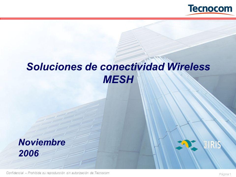 Página 1 Confidencial – Prohibida su reproducción sin autorización de Tecnocom Soluciones de conectividad Wireless MESH Noviembre 2006